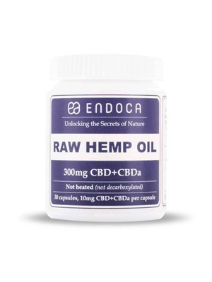 Endoca Raw Hemp Oil Capsules 300Mg - 3%