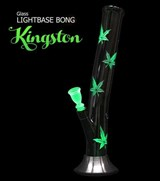 Bong de Vidrio Kingston con base de luces
