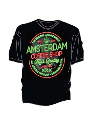 Amsterdam T-Shirt - Coffee Shop Sign
