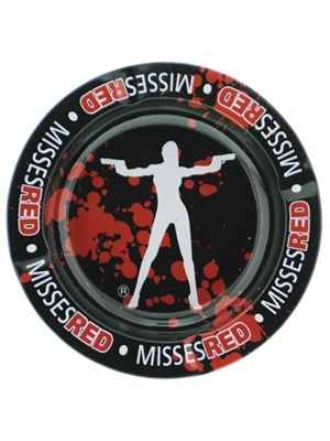 Metal Ashtray – Misses Red