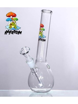 Amsterdam Mushroom With Frog – Small Bong